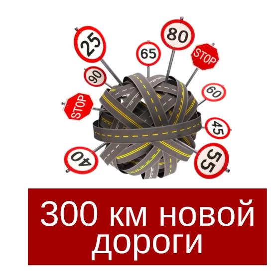 300 км новой дороги
